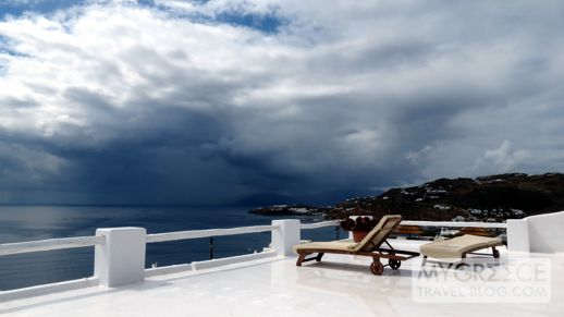 stormclouds above Tinos