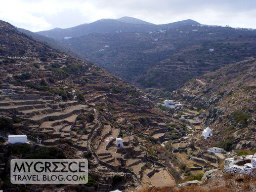 mountain hillside on Sifnos