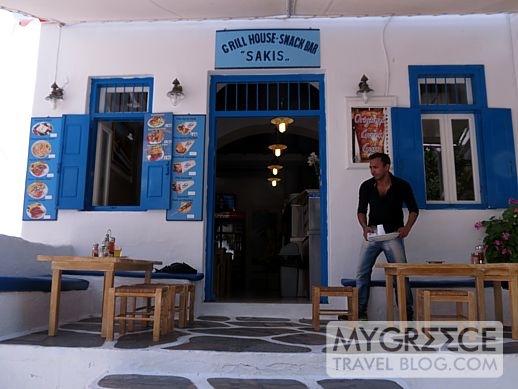 Sakis Grill House in Mykonos Town