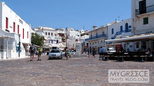 Taxi Square in Mykonos Town