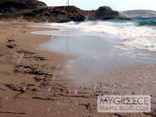 beach near Tourlos on Mykonos