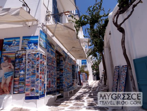 a souvenir shop in Mykonos Town