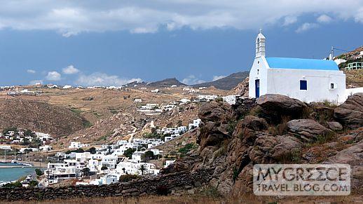 a church in the Tagoo area of Mykonos