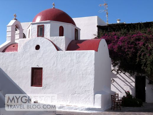 a church in Mykonos