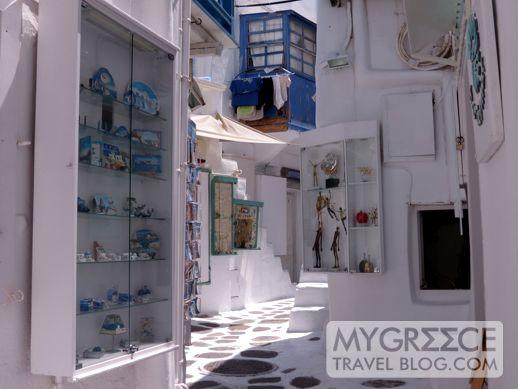 Mykonos Town shops