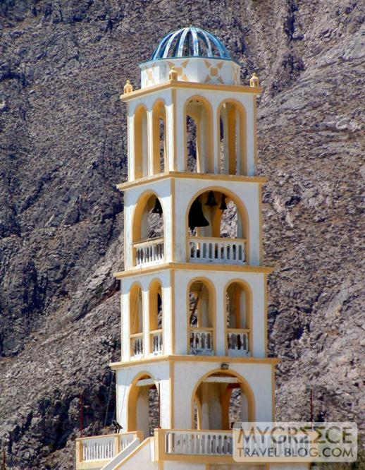 Santorini church belltower