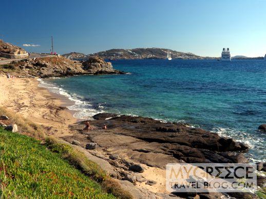 Tourlos beach on Mykonos