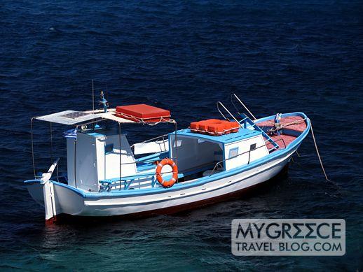 Psarou bay on Mykonos