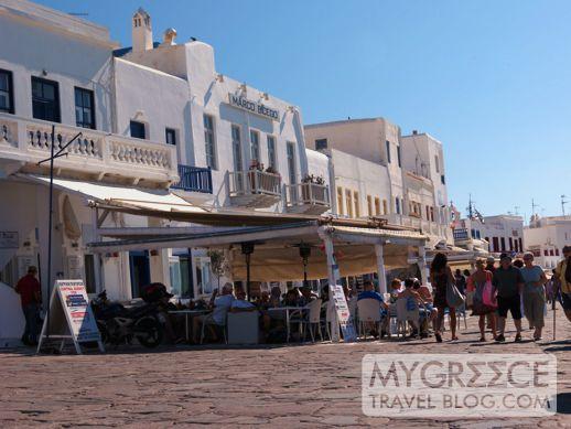 Mykonos Town waterfront promenade