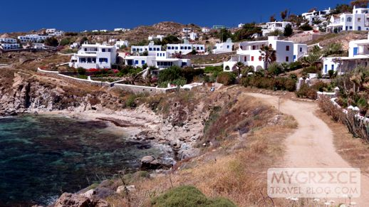 trail to Platis Gialos Mykonos