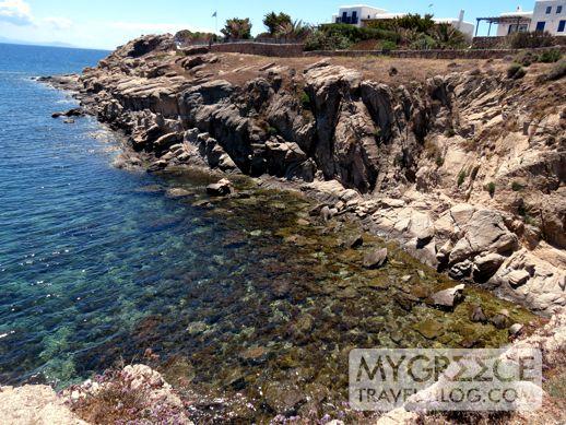 Mykonos coastline near Paradise beach
