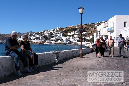 Mykonos waterfront near Taxi Square