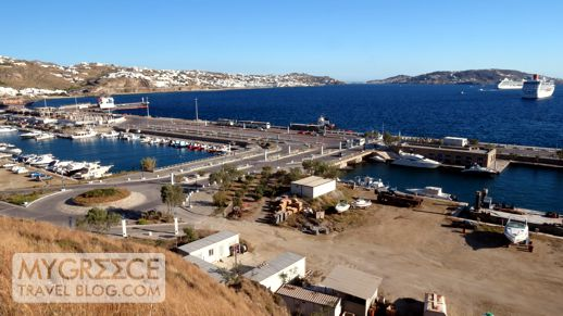 the New Port at Tourlos on Mykonos