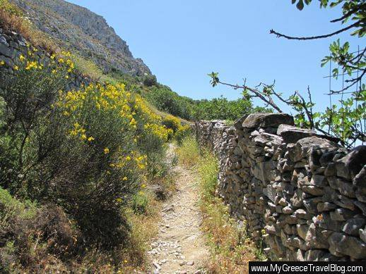 Amorgos hiking path