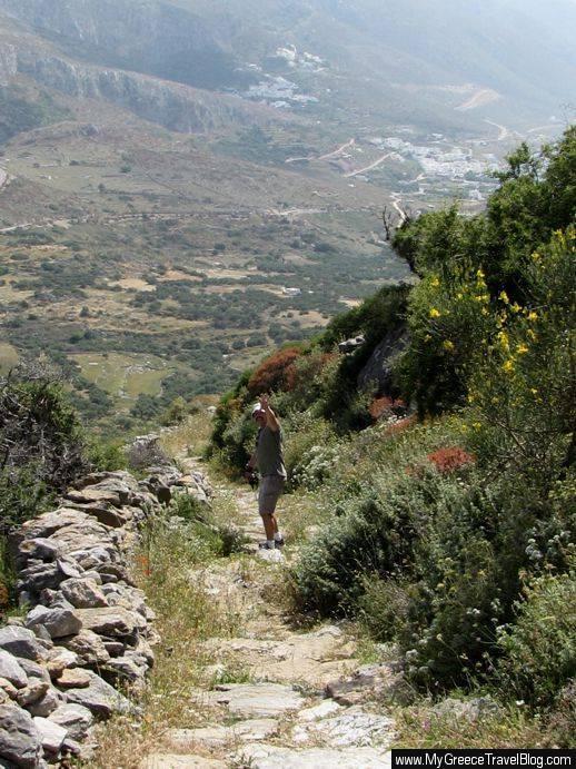 Amorgos hiking path