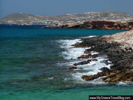 west coast of Paros