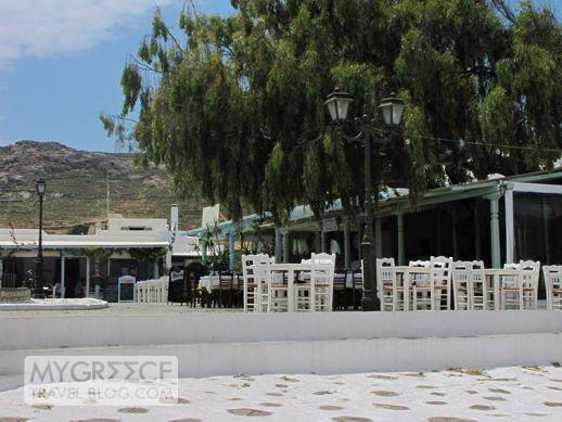 Ano Mera restaurant square
