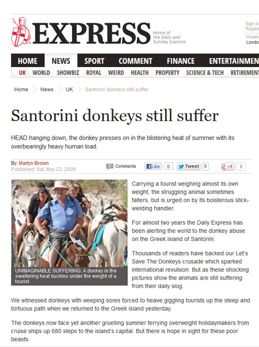Daily Express donkey article