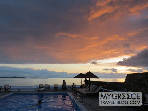 Hotel Tagoo sunset view