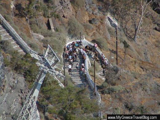 Santorini donkey path