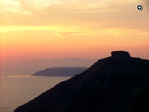 Santorini's Skaros Rock