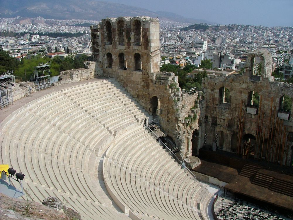 The Odeon of Herodes Atticus theatre at the Acropolis  MY ...