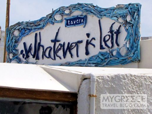 Whatever is Left taverna