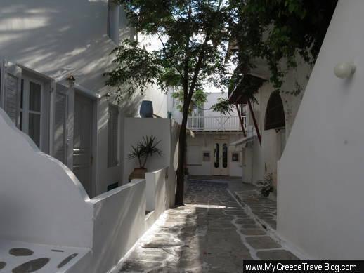 a street in Mykonos Town
