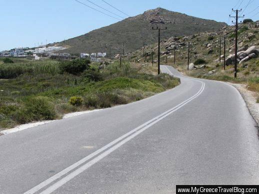 road to Stelida on Naxos