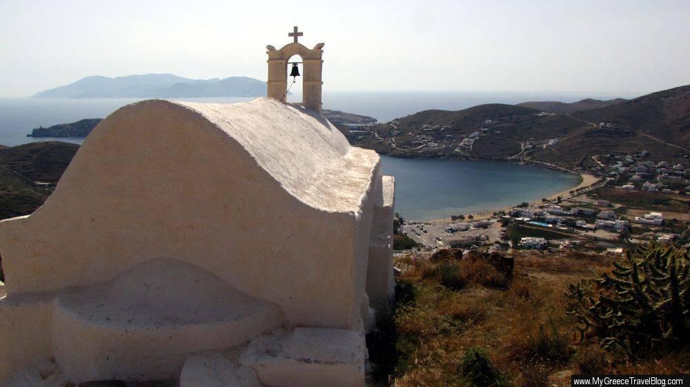 a church on Ios