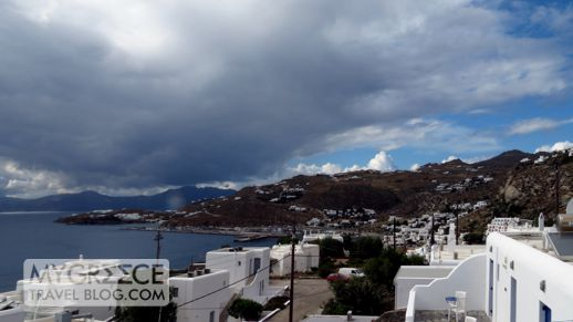 clouds above Tinos island
