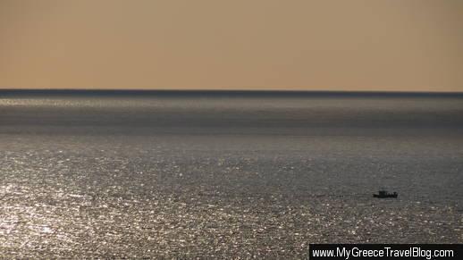 fishing boat off Mykonos