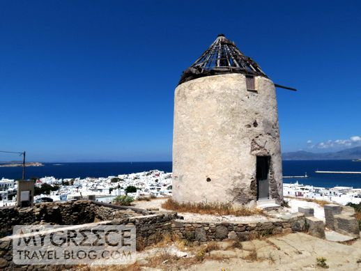 old windmill in Mykonos Town