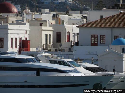 boats at Mykonos