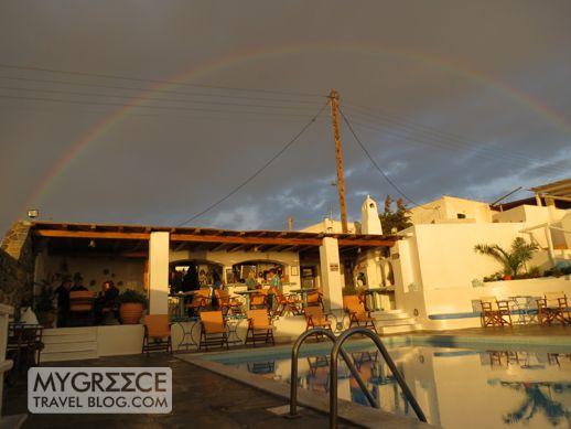 rainbow above Hotel Tagoo