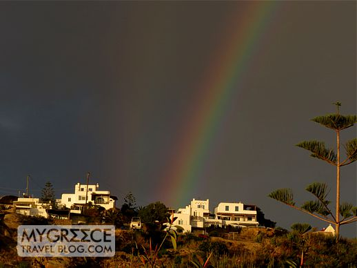 rainbow above Mykonos