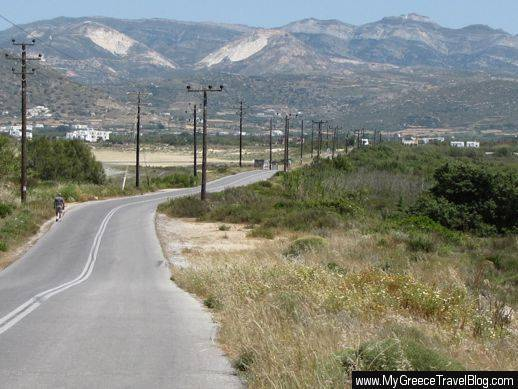 road from Stelida to Naxos Town
