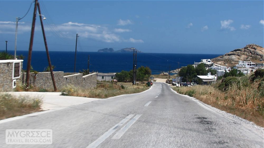 road to Kalafatis beach on Mykonos