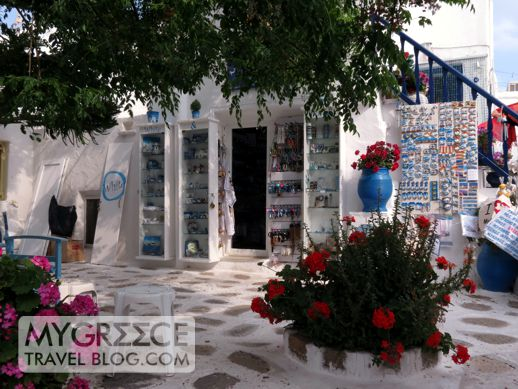 courtyard in Mykonos Town