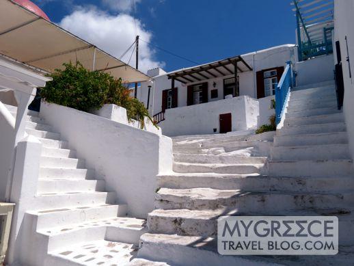 Agios Spiridonos street in Mykonos Town