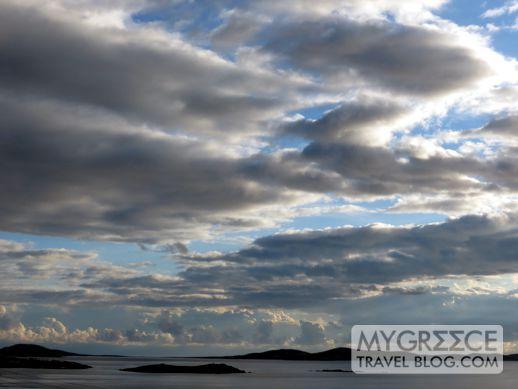 clouds above Mykonos
