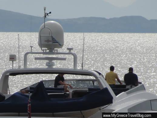 A Nadia yacht at Mykonos