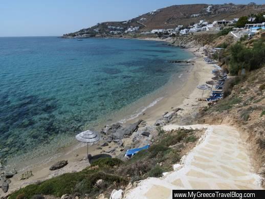 Agios Ioannis beach view from steps at Saint John Mykonos Resort IMG_2223