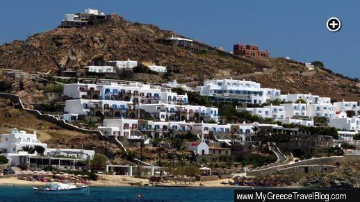 Hippie Fish, Mykonos Grand Hotel and Saint John Mykonos Hotel at Agios Ioannis