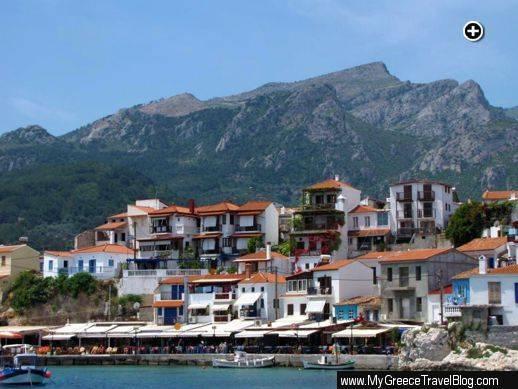 Harbour view of Kokkari village on Samos