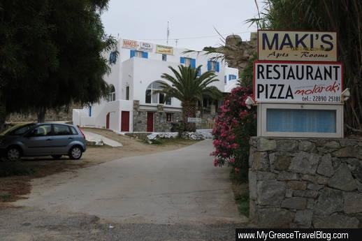 Makis Place and Molaraki restaurant Mykonos