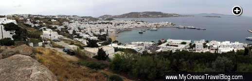 Mykonos Town panoramic view