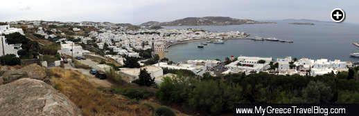 Mykonos Town panoramic view