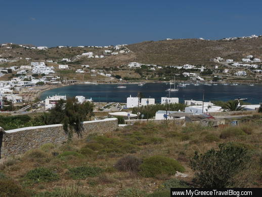 Ornos beach and bay Mykonos