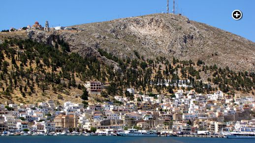 Arriving by ferry at Pothia, the port town of Kalymnos island